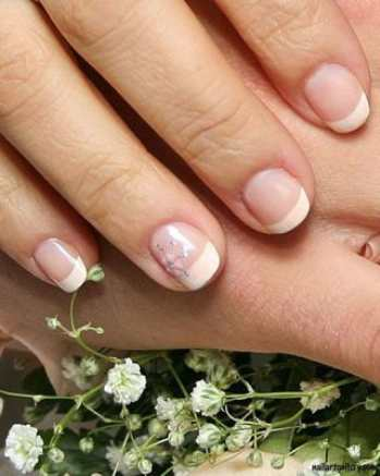 Французский маникюр на коротких ногтях фото, как сделать французский маникюр на коротких ногтях, красивый маникюр на коротких ногтях